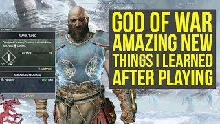 God of War ARMOR CRAFTING, SKILLS, MAP & Way More New Things (God of War 4 news - God of War 5)
