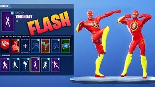 "*NEW* ""FLASH"" CUSTOM SKIN SHOWCASE WITH FORTNITE DANCES & EMOTES!"
