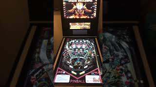 Space invaders pinball table on my home built wide bodied pinball machine
