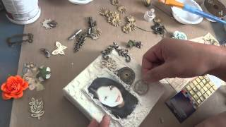 """Just Me"" Mixed Media Mini Canvas Tutorial"