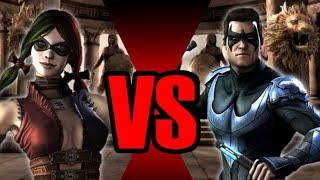 Harley Quinn vs Nightwing Injustice (Gameplay) Part 2