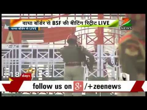 R-day Celebration: Special Beating Retreat Ceremony Held At Wagah Border video