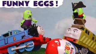 Thomas & Friends Big Adventures funny Kinder Surprise Egg Hunt with funny Funlings TT4U