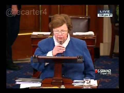 Sen Barbara Mikulski (D-MD) on defeat of Paycheck Fairness Act