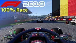 F1 2018 - 100% Race @ Circuit de Spa-Francorchamps in Verstappen's Red Bull