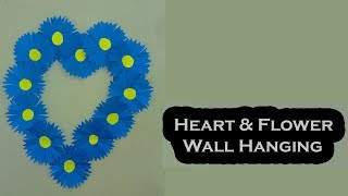 Diy Paper Flower Wall Hanging – Paper Craft Wall Decoration Idea - Simple and Beautiful Wall Hanging