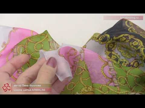 Обработка края платка. Как сделать красивый уголок платка при обработке швом взакрутку.