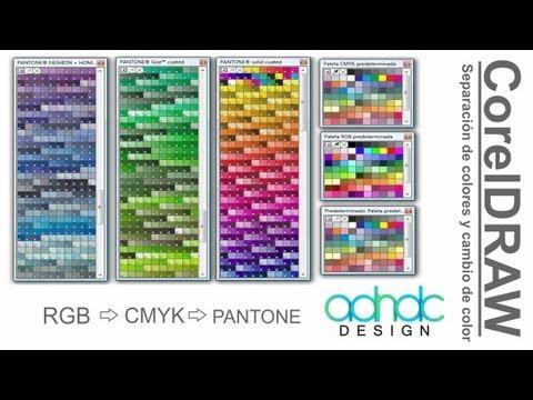 CorelDRAW, Separación de colores CMYK/RGB a PANTONE y viceversa @ADNDC @adanjp