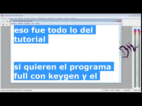 Tutorial Como quitarle la voz a una cancion Descarga Sound Forge Audio Studio 10.0 Full 2012