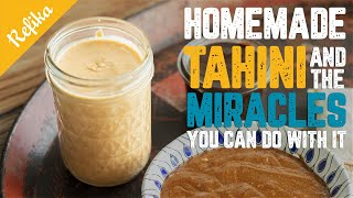 How to Make Tahini at Home   Healthy Alternative Recipes to Nutella, Cheese, Salad Dressing & Dip