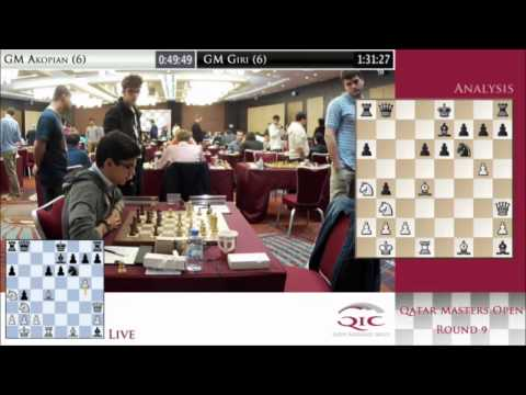Rd 8 - Chess tournament Final round - Qatar Master Open 2014 1/3