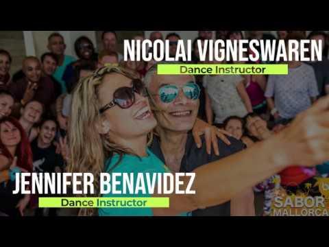JENNIFER BENAVIDEZ & NICOLAI VIGNESWAREN SALSA LESSONS