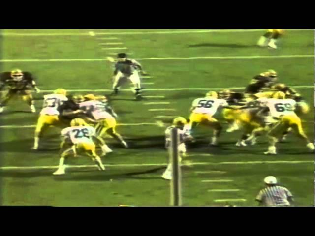 Oregon RB Russell Lawson gets 16 yards on screen pass vs. ASU 11-07-1987