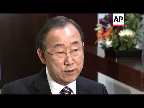 UN Sec Gen Ban Ki-moon comments on Mali and Syria