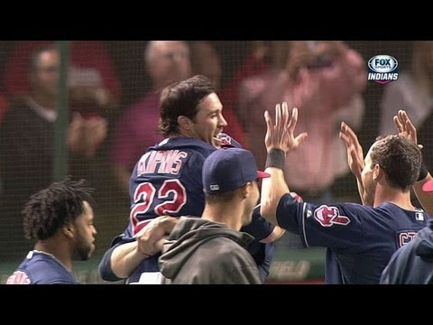 WSH@CLE: Stubbs beats the throw as Indians walk off
