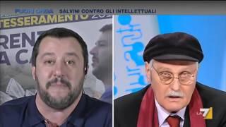 """Pennacchi vs Salvini: """"Vai a scuola, studia! Senza cervello, sua madre doveva riempirla di botte!"""""""
