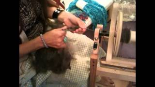 Hand spinning Leicester Longwool