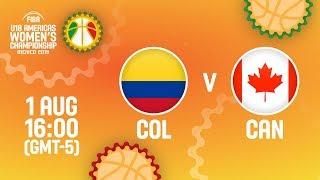 Колумбия до 18 (Ж) : Канада до 18 (Ж)