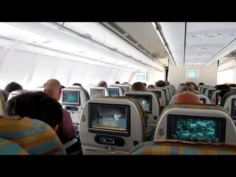 Oman Air Airbus A330 FRA - BKK Cabin View