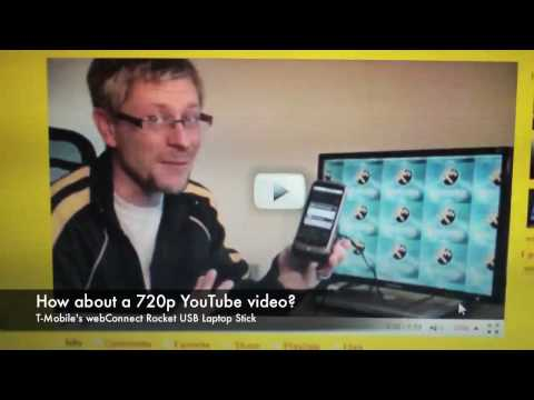 Hands on with T-Mobile's 21 Mbps webConnect Rocket USB Laptop Stick