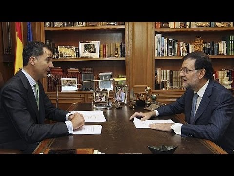 Spain's new king holds first working meeting with PM Rajoy