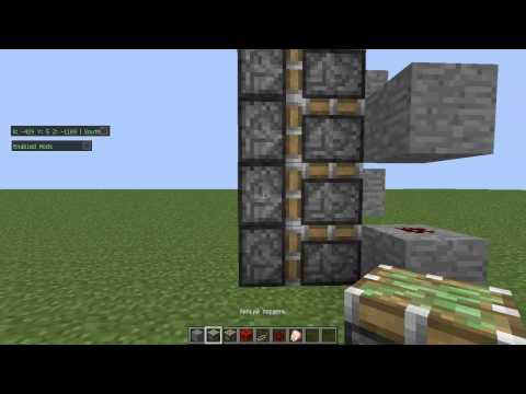 Как построить поршневой лифт в Minecraft[ВСЕ ВЕРСИИ]??
