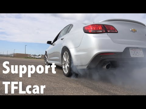 2014 Chevy SS Sedan Burnout & 3 Car Mashup Drag Race & TFL Pledge Drive