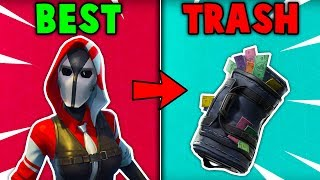 5 BEST SKINS WITH TRASH BACKBLINGS in Fortnite Battle Royale!