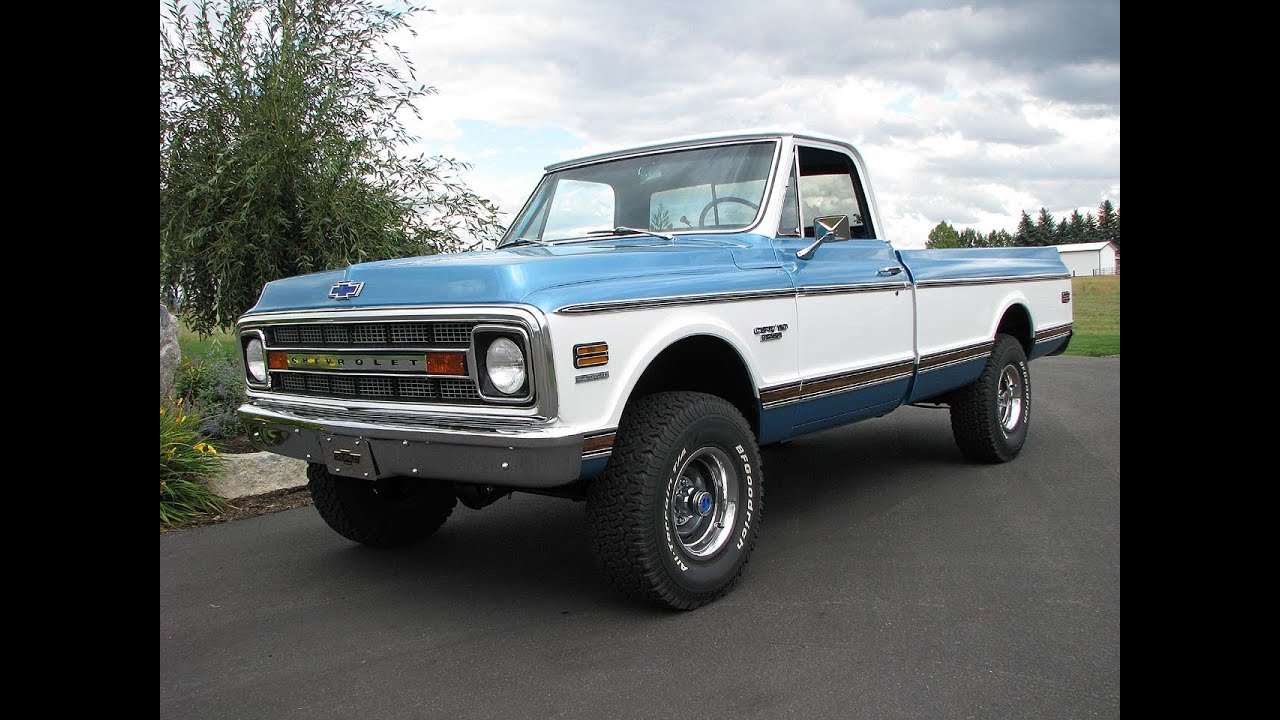 Chevrolet K20 4x4 For Sale >> 1970 Chevrolet C-10 CST 4x4 Stunning Restoration Walk Around Start - YouTube