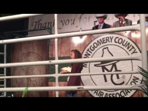 Sherri at livestock auction 2016