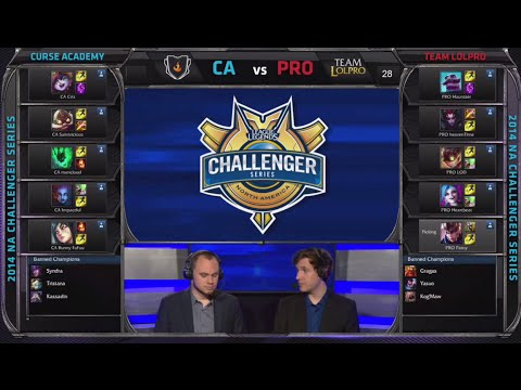 Team Lolpro Vs Curse Academy | Game 2 Semi Finals S4 Na Cs #2 Summer 2014 | Pro Vs Ca G2 video