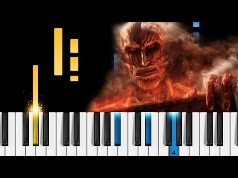 Shingeki No Kyojin - Shinzo Wo Sasageyo - Piano Tutorial - Attack On Titan Season 2 OP - 心臓を捧げよ