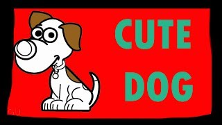 Draw Cute Dog / Cute Dog For Kids / Drawings for Kids