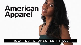 How I Got Sponsored by American Apparel + AA Try-On Haul | Melanie Patterson