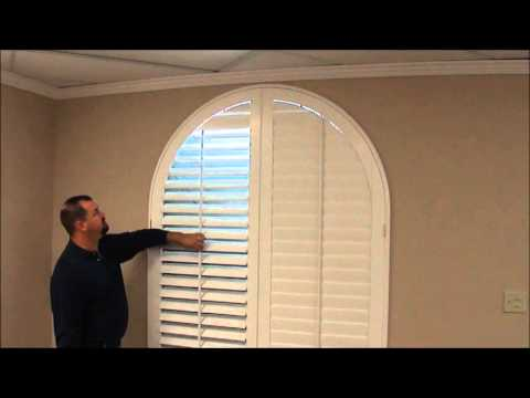 Custom Shutters For Arched Windows Youtube