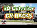 ✅ 30 Hacks for the Exterior of Your RV // Full Time RV Living