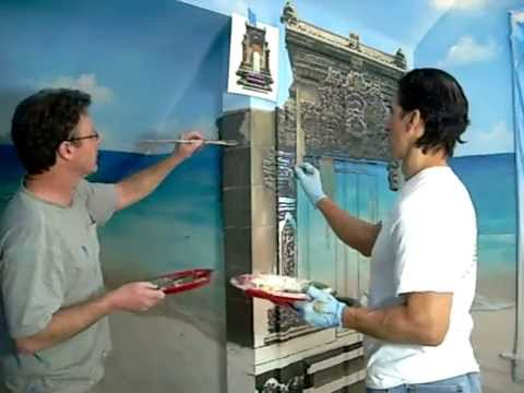 Mural Painting Tropical Paradise Beach