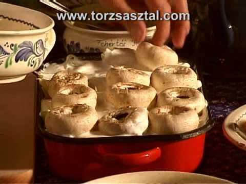 Joghurtos Zöldség Csusza Tésztába Csomagolva, Libamájas Gombával