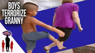 Mom Expects Grandma To Look After Her Violent Boys | Supernanny
