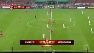 Çin - Hollanda Hazırlık Maçı Dk.65 Wesley Sneijder Muhteşem Goll