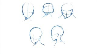 How to Draw Heads from Different Angles ? Drawing Tutorial