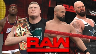 WWE RAW 2K17 Story - Lesnar Meets Lashley & The Club Debut! | 02/20/17