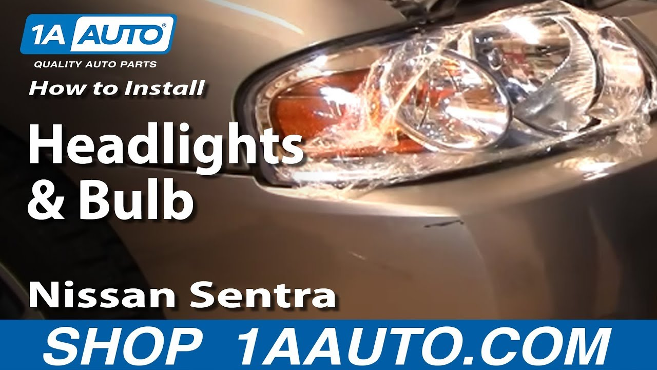 Altima Gxe 1998 >> How To Install Replace Headlights and Bulbs Nissan Sentra 04-06 1AAuto.com - YouTube
