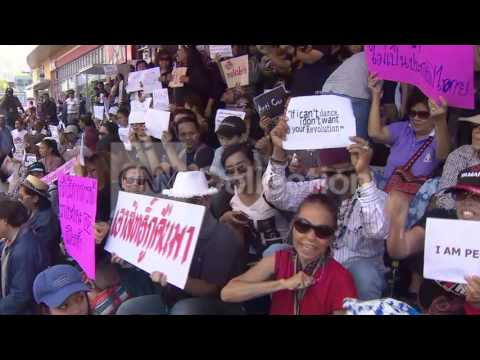 THAILAND: PROTESTERS GATHER DESPITE MILITARY BAN