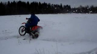 Honda CRF 450 winter driving by trakaizzz