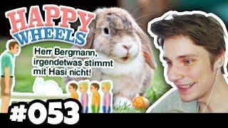 Herr Bergmann, irgendetwas stimmt mit Hasi nicht! :D ★ HAPPY WHEELS #053 | Herr Bergmann