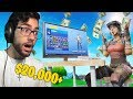 I used a $20,000+ RARE Fortnite Account in Random Duos... (crazy)