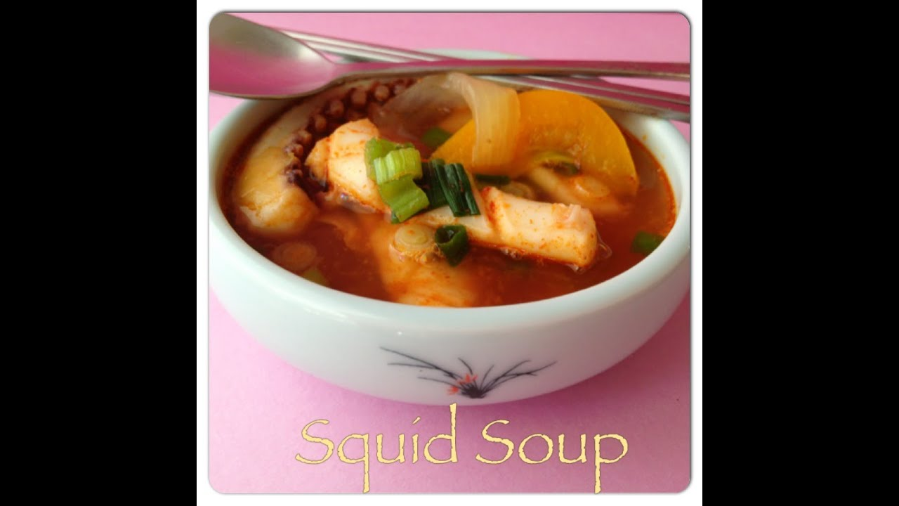 Korean Squid Soup How to Clean Squid {squid Soup