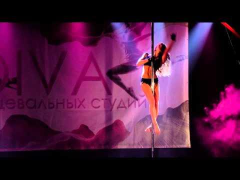 "Зимний отчетный концерт Pole dance в клубе ""Олимпия"" 25.01.2015. Педагог Оксана Веселова."