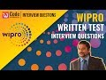 Wipro Written Test - Interview Questions And Answers